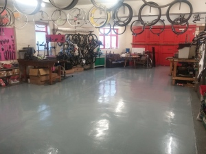 Newly painted floor